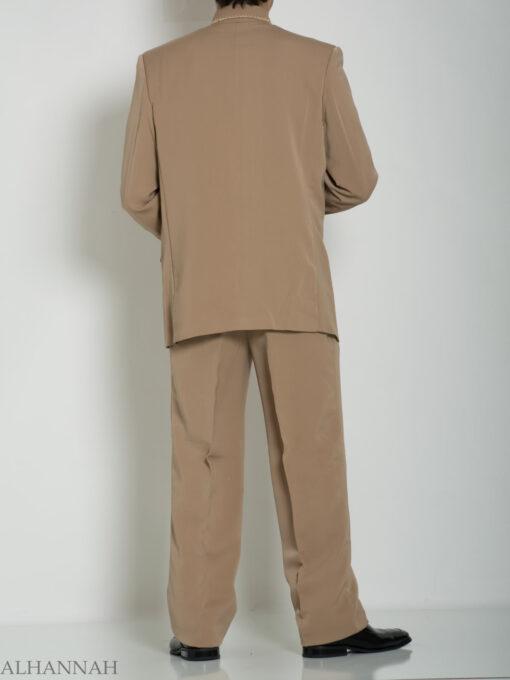 Tan Embroidered Plain Jacquard Designer Sherwani Suit ME757 (7)