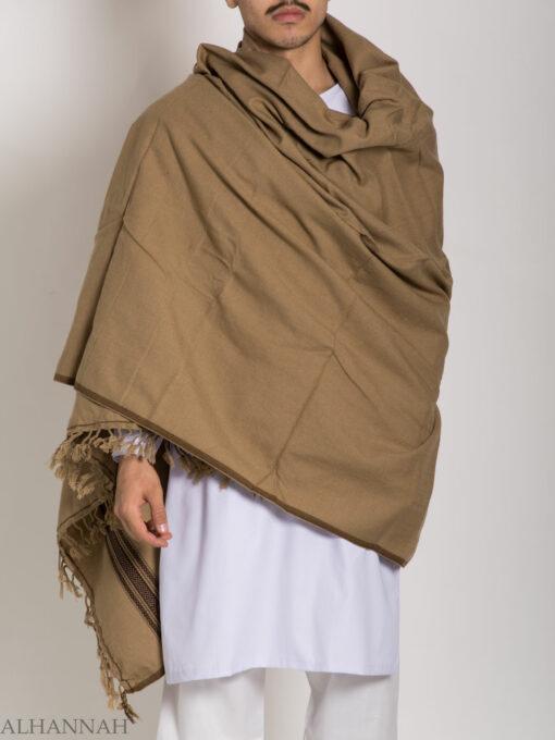 Tasseled Wool Shawl with Ethnic Arrowed Pattern ME748 (6)
