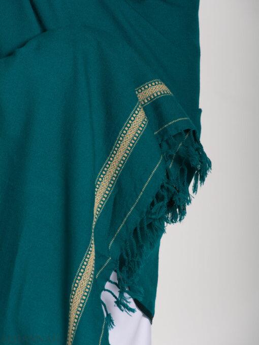 Tasseled Wool Shawl with Ethnic Diamond Pattern ME750 (2)