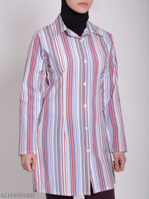 Striped Button Up Tunic st603 (6)