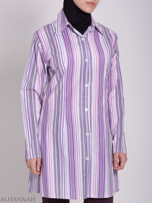 Striped Button Up Tunic st603 (7)