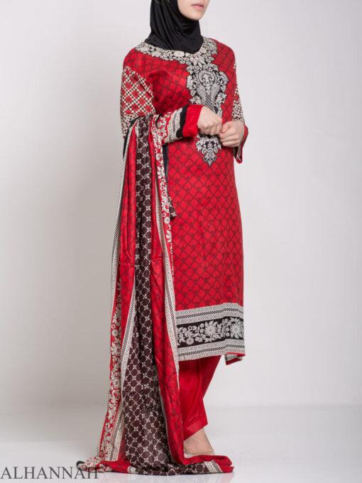 Ibtihaj Salwar Kameez - Premium Lawn Cotton sk1218 (1)