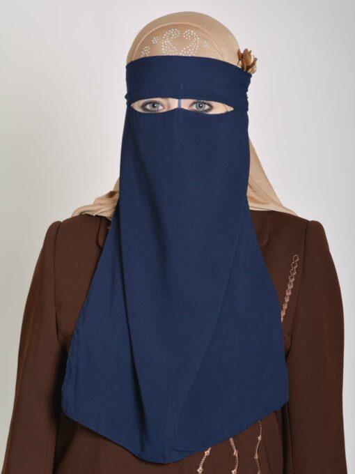 Saudi Style Solid Color One Layer Long Niqab NI158 (4)