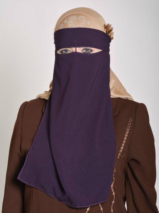 Saudi Style Solid Color One Layer Long Niqab NI158 (5)