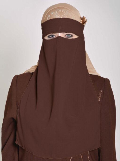 Saudi Style Solid Color One Layer Long Niqab NI158 (7)