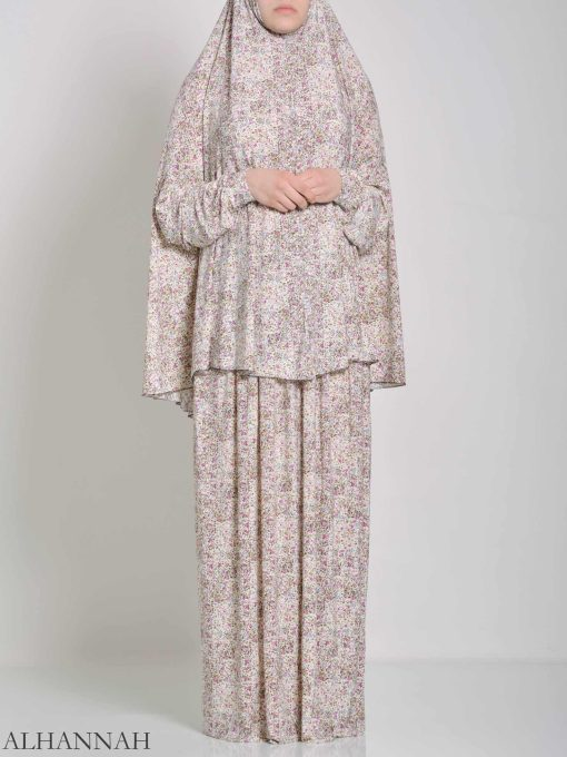 Speckled Roses Two Piece Prayer Outfit PS445 (2)