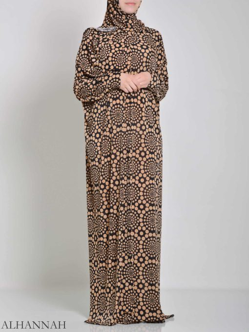 Spiraling Polka Dot One Piece Prayer Outfit PS444 (1)