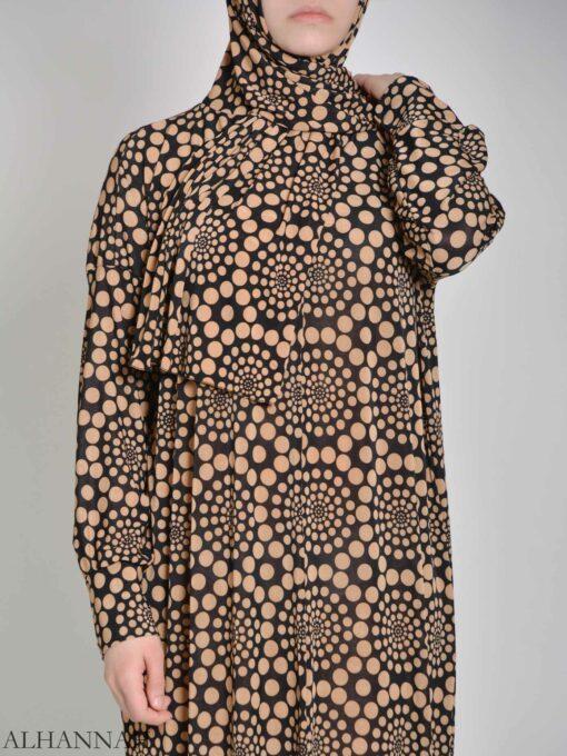 Spiraling Polka Dot One Piece Prayer Outfit PS444 (2)
