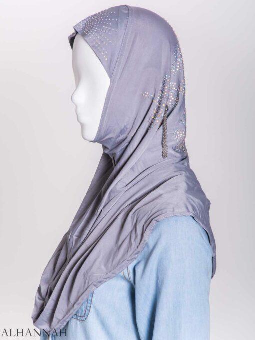 Clover Rhinestone One-Piece Al-Amira Hijab hi2158 (10)