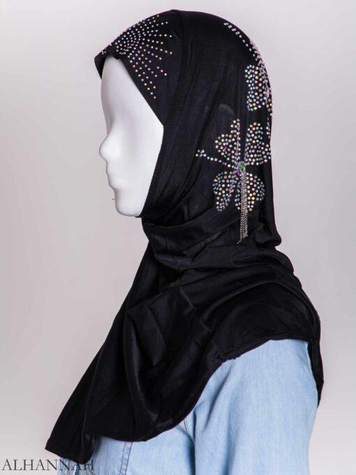 Clover Rhinestone One-Piece Al-Amira Hijab hi2158 (4)