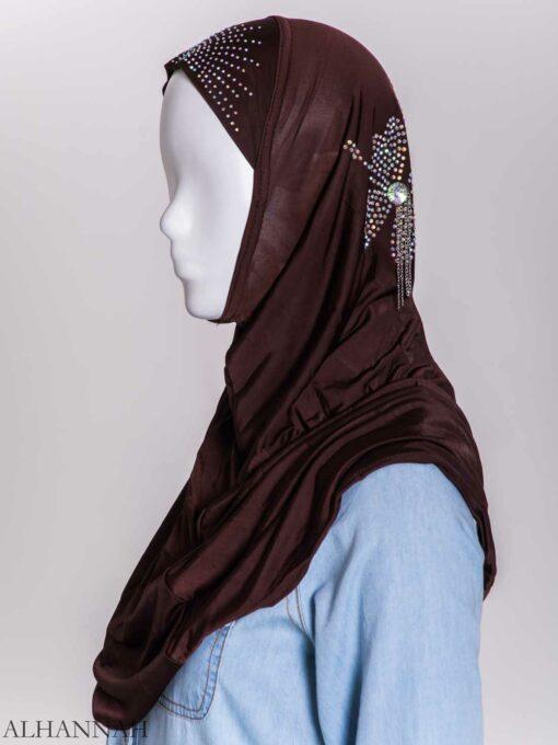 Clover Rhinestone One-Piece Al-Amira Hijab hi2158 (5)