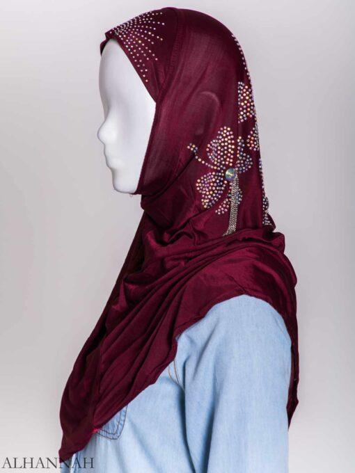 Clover Rhinestone One-Piece Al-Amira Hijab hi2158 (6)