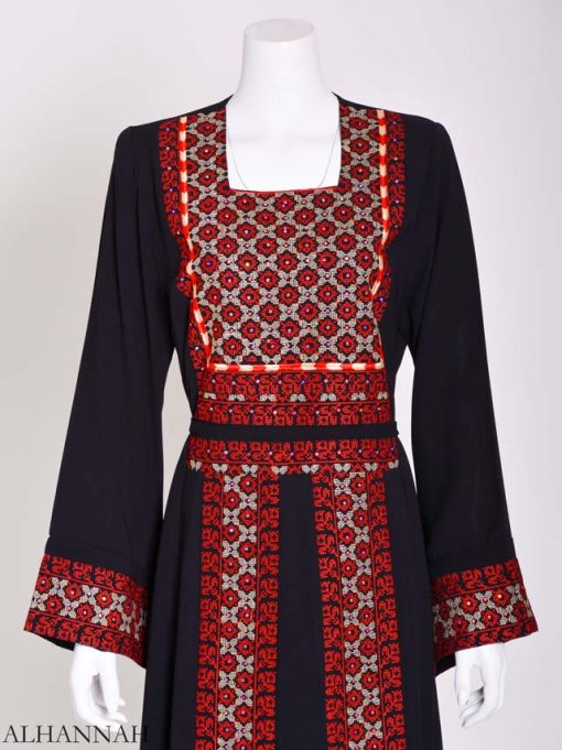 Embroidered Palestinian Fellaha Thobe th796 (12)