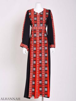 Embroidered Palestinian Fellaha Thobe with Satin th800 (3)
