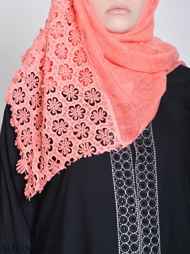 Floral Crochet Hijab