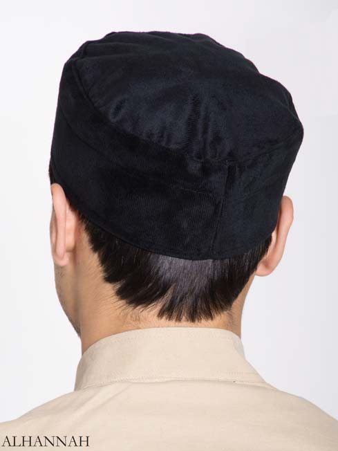 Mens Kufi Solid Color Velour (1)