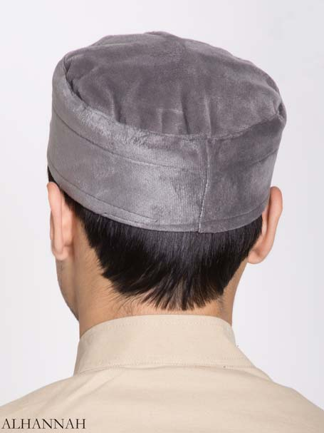 Mens Kufi Solid Color Velour (3)