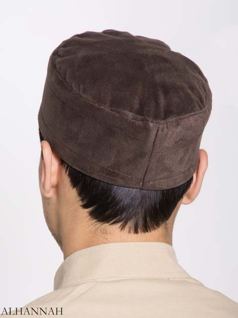 Mens Kufi Solid Color Velour