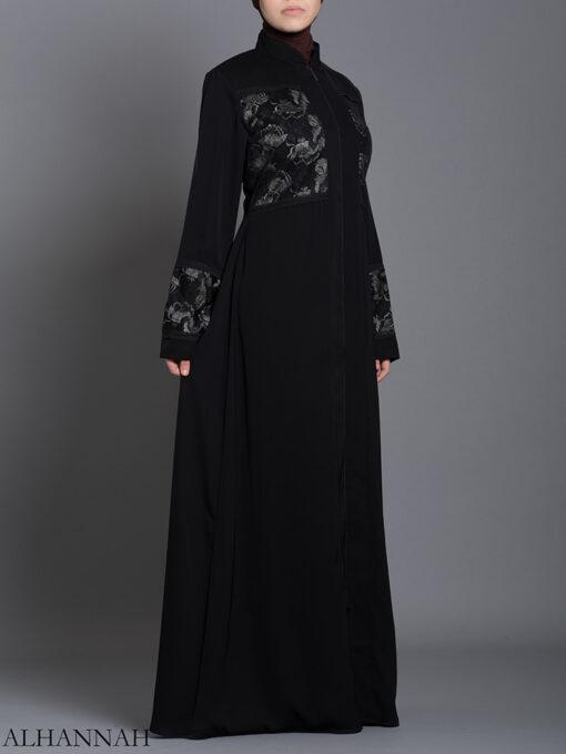 Netted Rose Abaya ab712 (1)