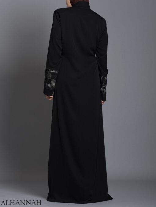 Netted Rose Abaya ab712 (5)