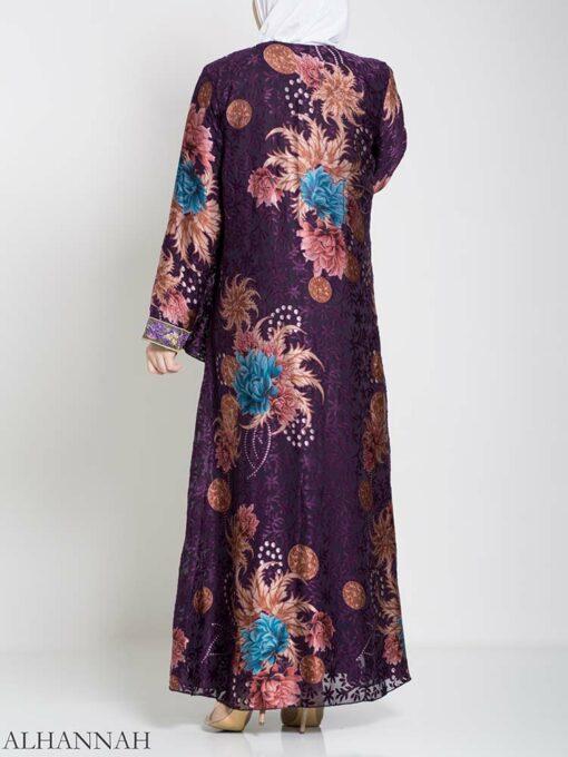 Paisley Floral Abstract Abaya ab709 (1)