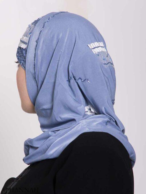 Ribboned Bugle Beaded Two-Piece Al-Amira Hijab hi2157 (1)