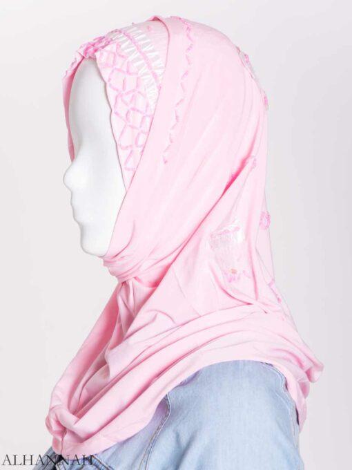 Ribboned Bugle Beaded Two-Piece Al-Amira Hijab hi2157 (3)
