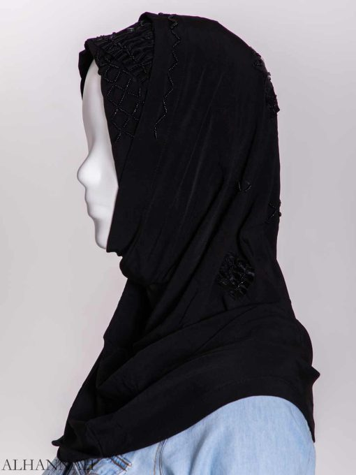 Ribboned Bugle Beaded Two-Piece Al-Amira Hijab hi2157 (4)