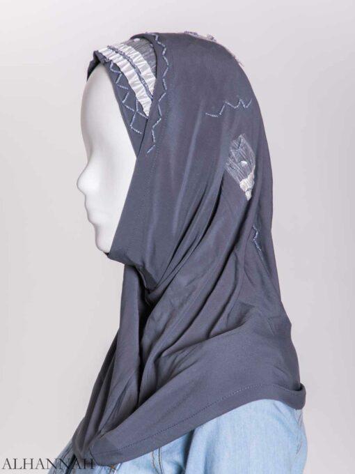 Ribboned Bugle Beaded Two-Piece Al-Amira Hijab hi2157 (5)