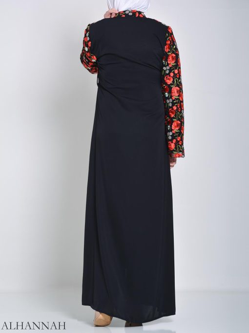 Rose Embroidered Abaya