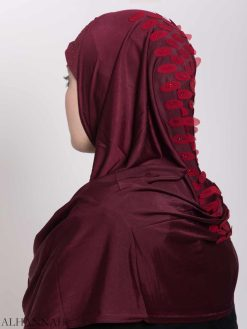 Scaled Rhinestone One-Piece Al-Amira Hijab hi2159 (1)