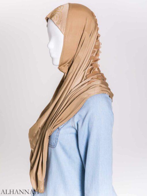 Scaled Rhinestone One-Piece Al-Amira Hijab hi2159 (10)