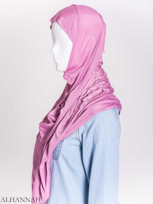 Scaled Rhinestone One-Piece Al-Amira Hijab hi2159 (11)