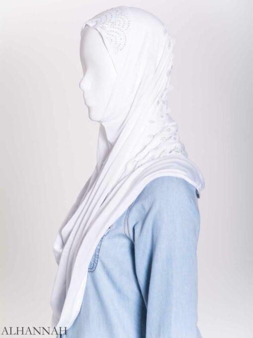 Scaled Rhinestone One-Piece Al-Amira Hijab hi2159 (13)