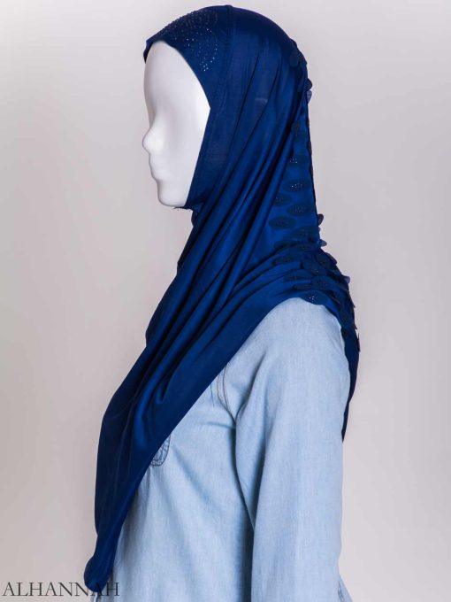 Scaled Rhinestone One-Piece Al-Amira Hijab hi2159 (4)