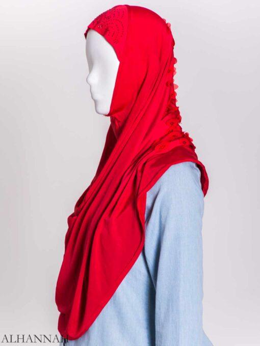 Scaled Rhinestone One-Piece Al-Amira Hijab hi2159 (6)