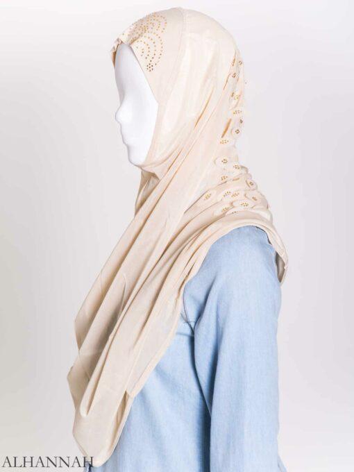 Scaled Rhinestone One-Piece Al-Amira Hijab hi2159 (7)