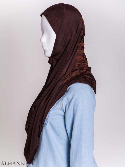 Scaled Rhinestone One-Piece Al-Amira Hijab hi2159 (8)