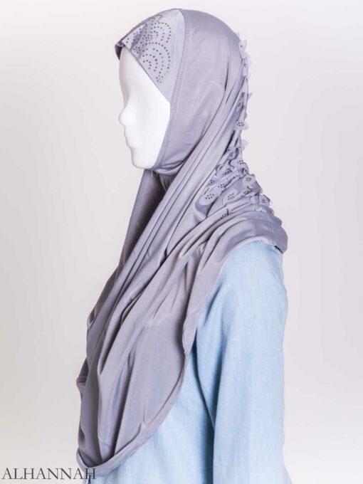 Scaled Rhinestone One-Piece Al-Amira Hijab hi2159 (9)