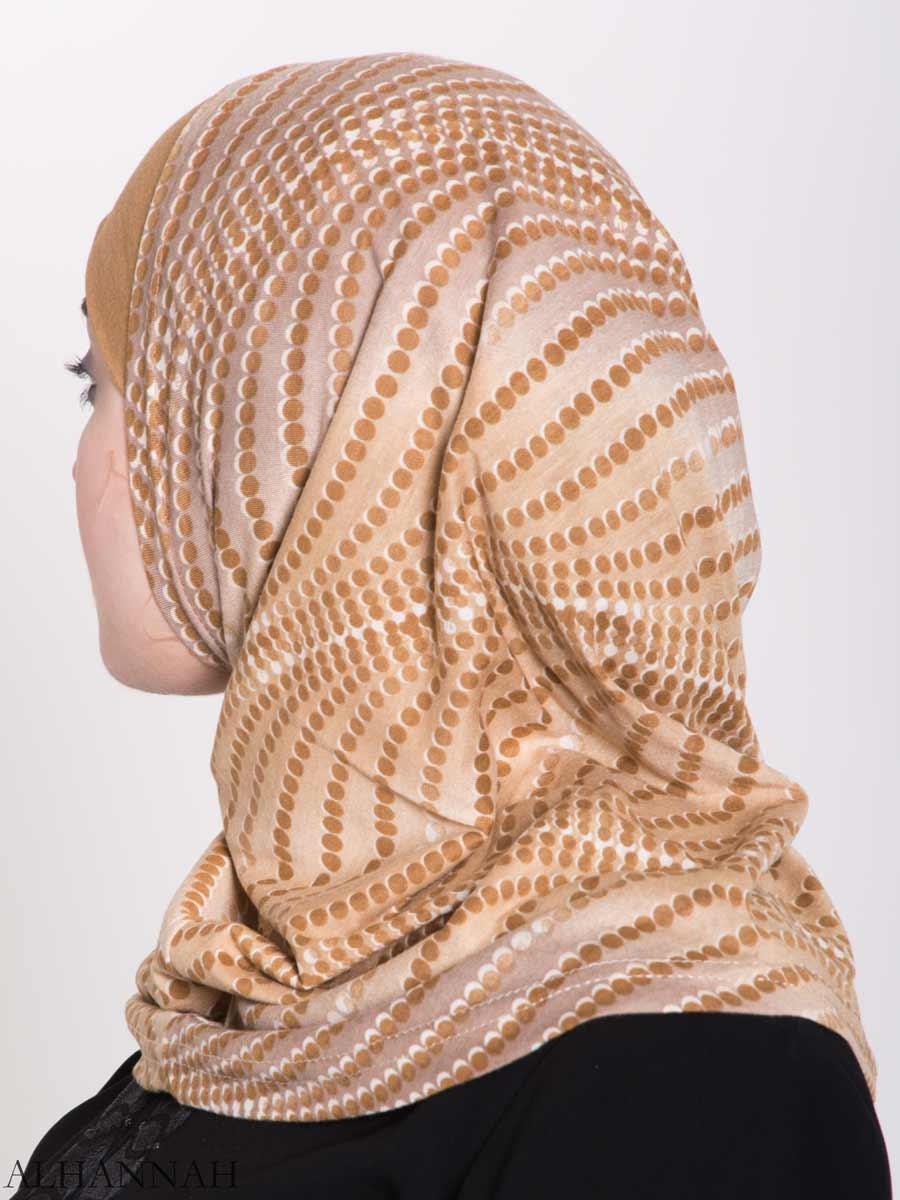 Spiraling Polka Dots Two-Piece Al-Amira Hijab hi2156 (1)