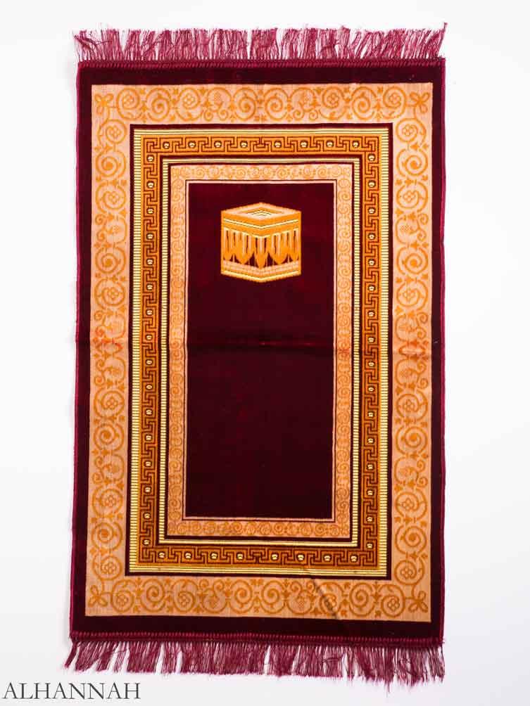 Turkish Prayer Rug Red Geometric Kaaba Motif ii1146