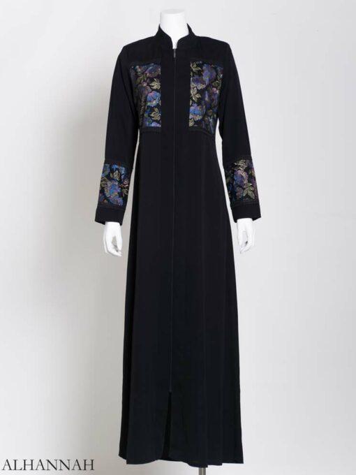 Womens Abaya netted Rose Net (1)