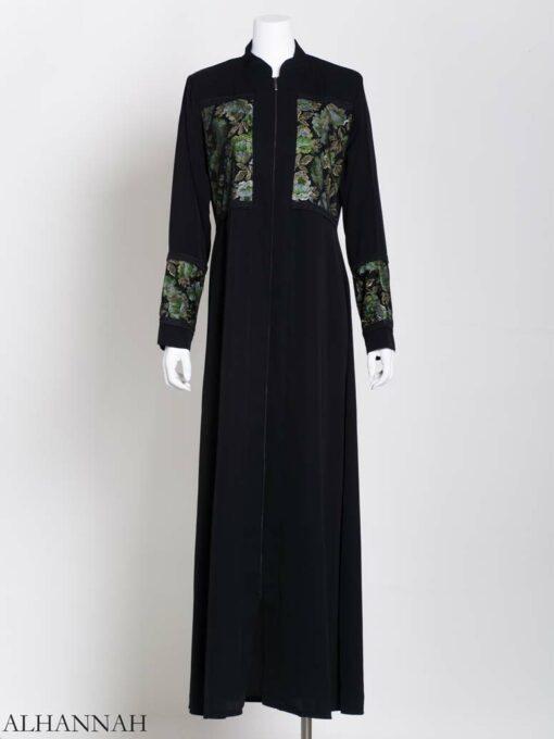 Womens Abaya netted Rose Net (2)