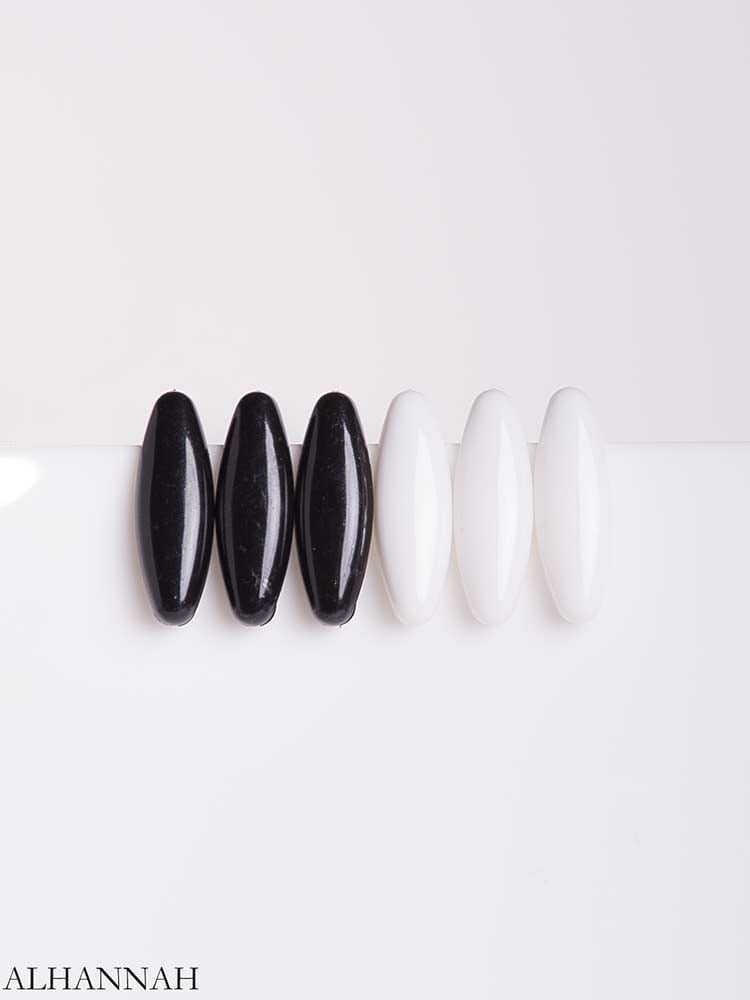 6 Pack Black and White Hijab Pins (1) gi670
