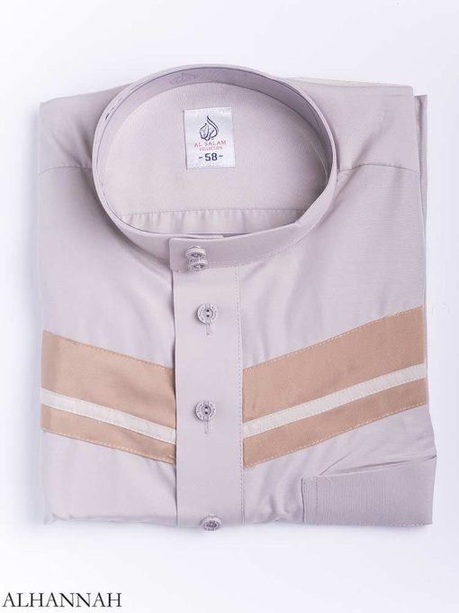 Double Striped Chest Accent Thobe me771 (3)