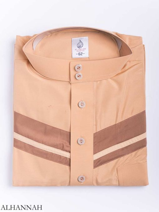 Double Striped Chest Accent Thobe me771 (4)