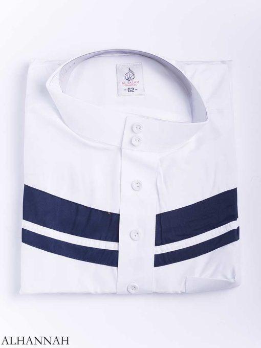 Double Striped Chest Accent Thobe me771 (5)