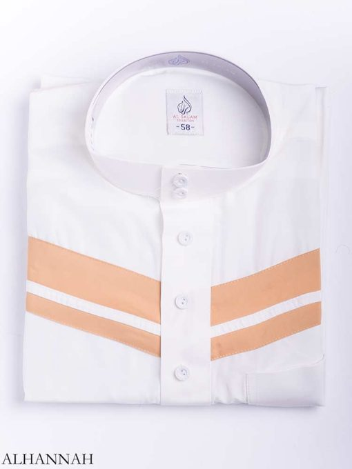 Double Striped Chest Accent Thobe me771 (6)