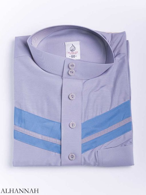 Double Striped Chest Accent Thobe me771 (8)