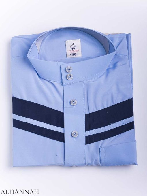 Double Striped Chest Accent Thobe me771 (9)